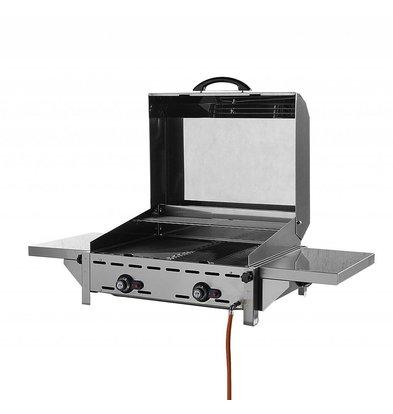 Hendi Rolltop Deckel für Grillsystem Green Fire 2 Brenner