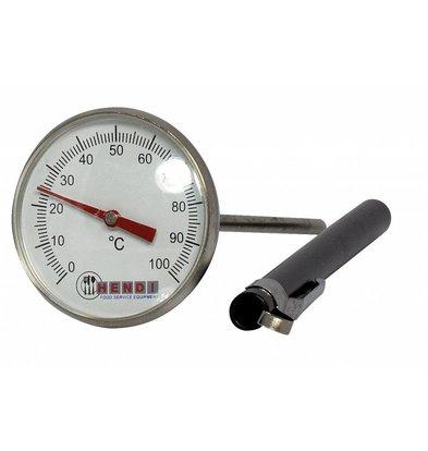 Hendi Einstechthermometer Messbereich 0 °C bis +100 °C.