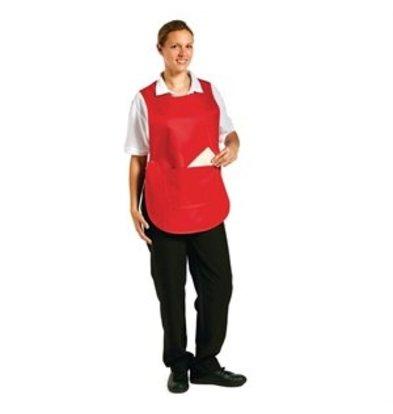 XXLselect Überwurfschürze mit Tasche rot