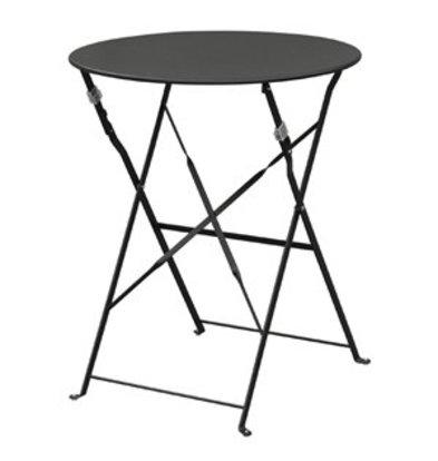Bolero Bolero klappbarer Stahltisch rund 60cm schwarz