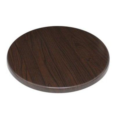 XXLselect Bolero Tischplatte rund dunkelbraun 60cm