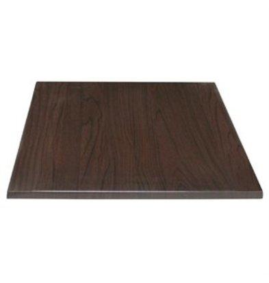 XXLselect Bolero Tischplatte  viereckig dunkelbraun 60cm