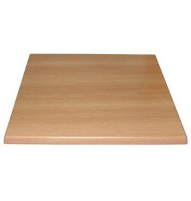 XXLselect Bolero Tischplatte viereckig Buche 70cm