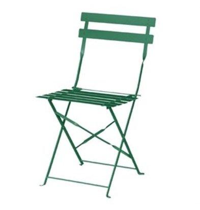 XXLselect Bolero Terrassenstuhl aus Stahl dunkelgrün (2-er Pack)