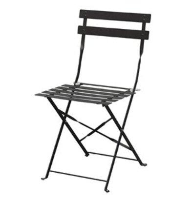 XXLselect Bolero klappbarer Stahlstuhl schwarz