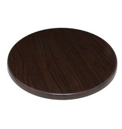 XXLselect Bolero Tischplatten rund dunkelbraun 80cm