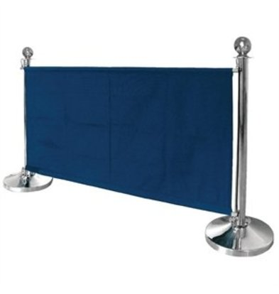 Bolero Bolero Segeltuch-Abschirmwand blau