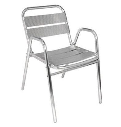 Bolero Bolero Stuhl Aluminium mit Armlehnen