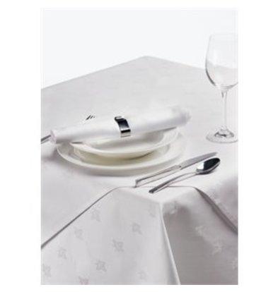 XXLselect Damast Efeublatt Tischdecke weiß 89cm