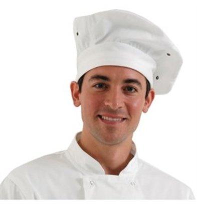 XXLselect Chef Works Kochmütze weiß