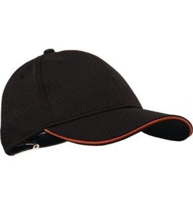 XXLselect Colour by Chef Works Cool-Vent Baseballcap schwarz orange
