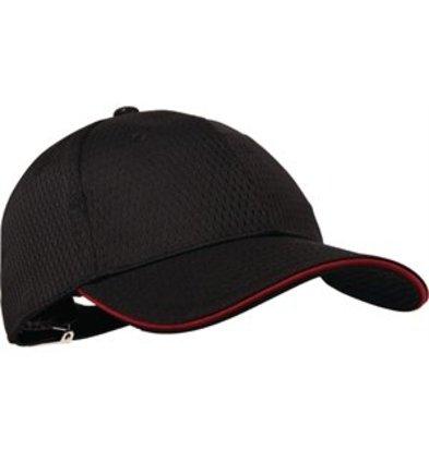 XXLselect Colour by Chef Works Cool-Vent Baseballcap schwarz rot