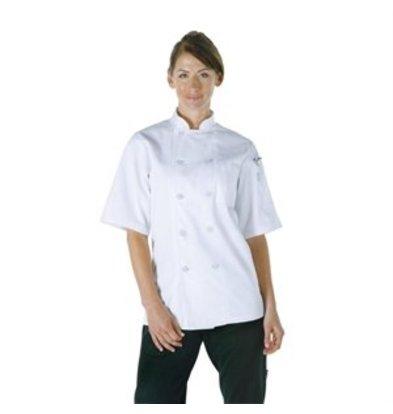 XXLselect Chef Works Kochjacke Volnay kurzarm weiß L