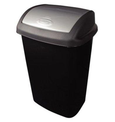 XXLselect Curver Abfallbehälter mit Schwingdeckel schwarz 50Ltr