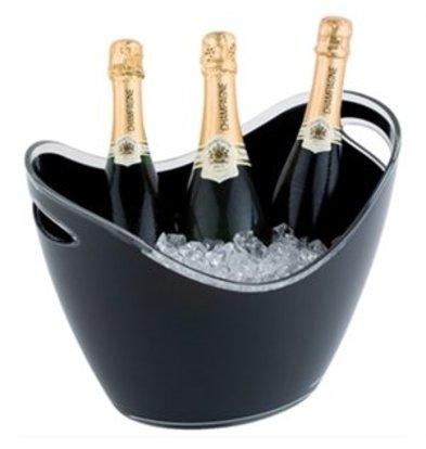 XXLselect Champagnerschale schwarz groß