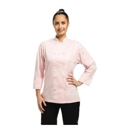 XXLselect Chef Works Damen Chefkochjacke Marbella langarm rosa L