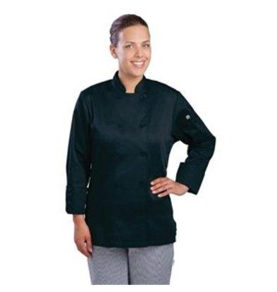 XXLselect Chef Works Damen Chefkochjacke Marbella langarm schwarz L