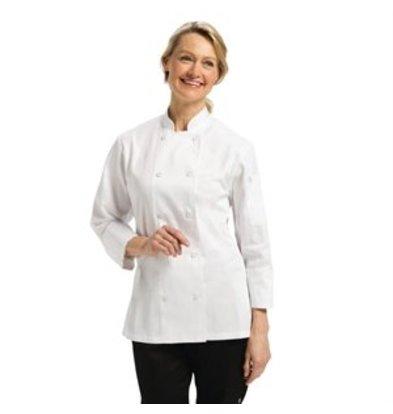 XXLselect Chef Works Damen Chefkochjacke Marbella langarm weiß L