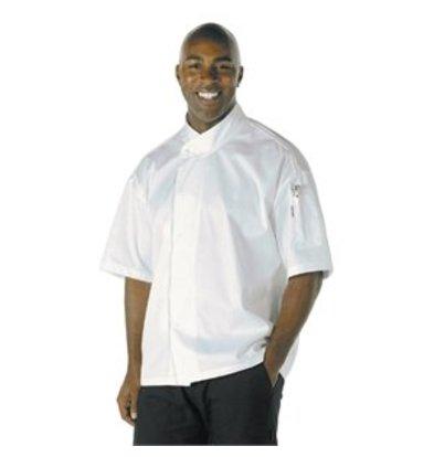 XXLselect Chef Works Cool-Vent Chefkochjacke Tours kurzarm weiß L