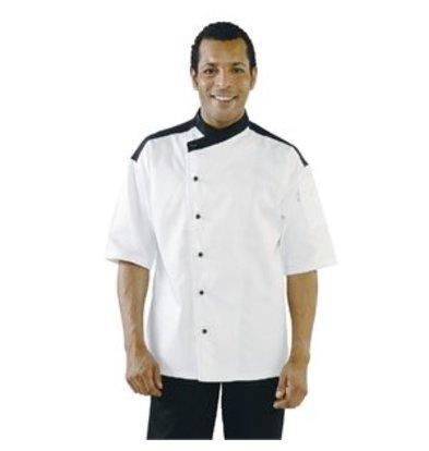 XXLselect Chef Works Kochjacke Metz dreiviertelarm weiß L