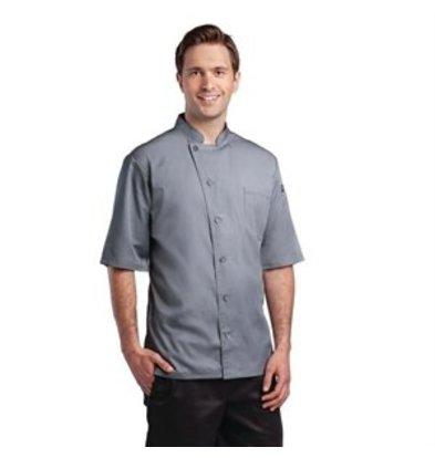 XXLselect Chef Works Cool-Vent Kochjacke Valais kurzarm grau L