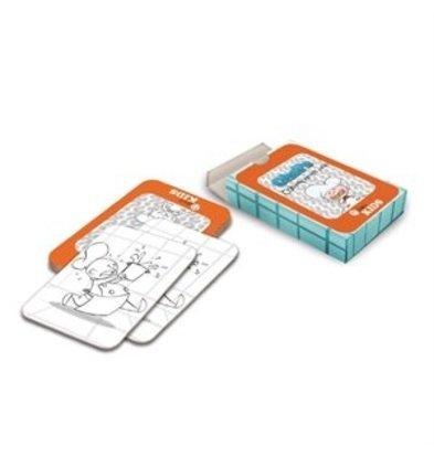 XXLselect Dining Kids Memory Kartenspiel zum Ausmalen Chefkoch