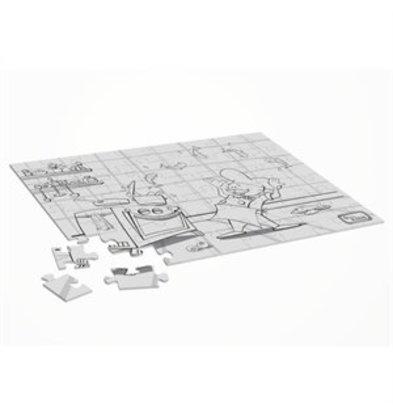XXLselect Dining Kids Puzzle zum Ausmalen Hotelpage