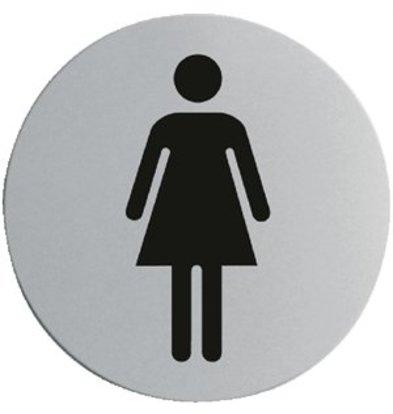 XXLselect Edelstahl Türschild Damen