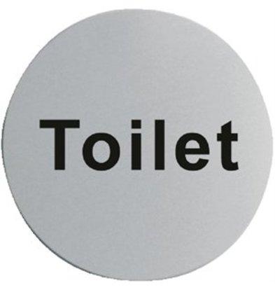 XXLselect Edelstahl Türschild Toilette