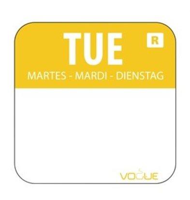 XXLselect Farbcode Sticker Dienstag/gelb