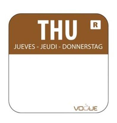 XXLselect Farbcode Sticker Donnerstag/braun