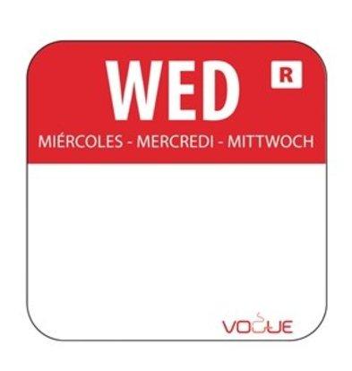 XXLselect Farbcode Sticker Mittwoch/rot