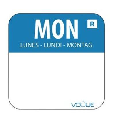 XXLselect Farbcode Sticker Montag/blau