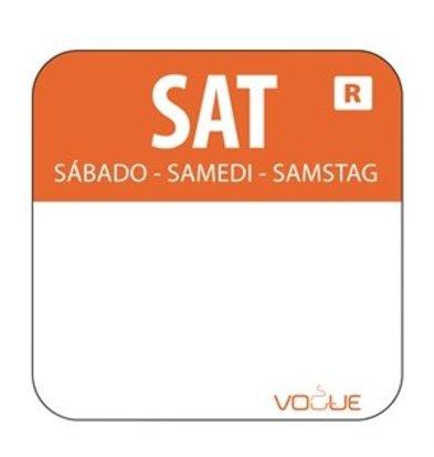 XXLselect Farbcode Sticker Samstag/orange