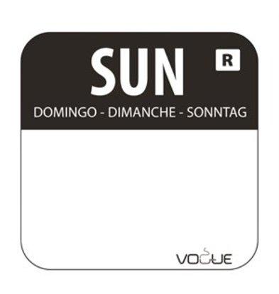 XXLselect Farbcode Sticker Sonntag/schwarz