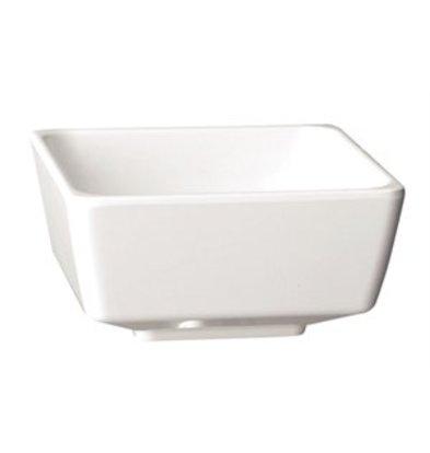 XXLselect Float melamine viereckige Schüssel weiß 9cm