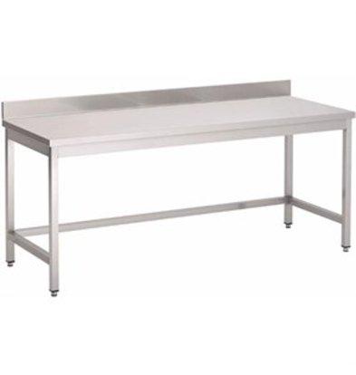 XXLselect Gastro-M Arbeitstisch mit Aufkantung ohne Regalboden 700x700x850mm