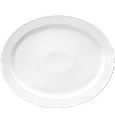 XXLselect Intenzzo White ovale Schale 30x24cm