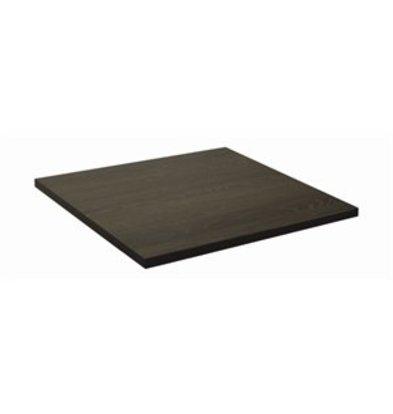 Bolero Lamidur 600 Tischplatte 60x60cm schwarz/braun