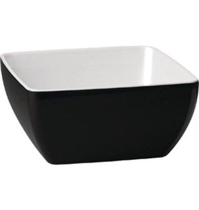 XXLselect Melamin Schale Pure Bicolor schwarz weiß 9cm