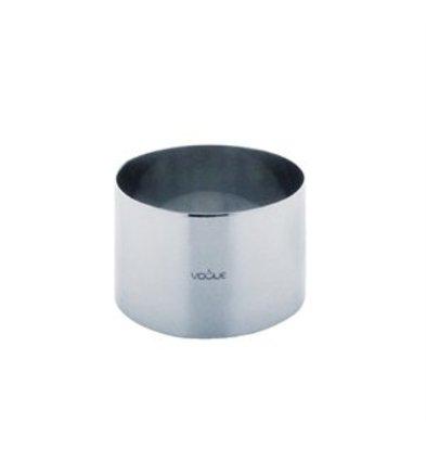 XXLselect Mousse-Ring Edelstahl 90x60mm