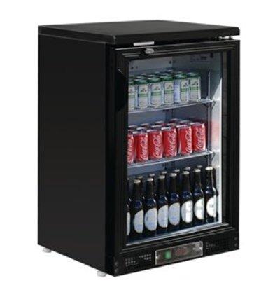 Polar Polar 1-türige Bar-Kühlvitrine schwarz 104 Flaschen