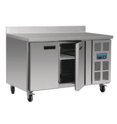 Polar Polar 2-türiger Edelstahlkühlschrank mit Spritzschutz (282Ltr)