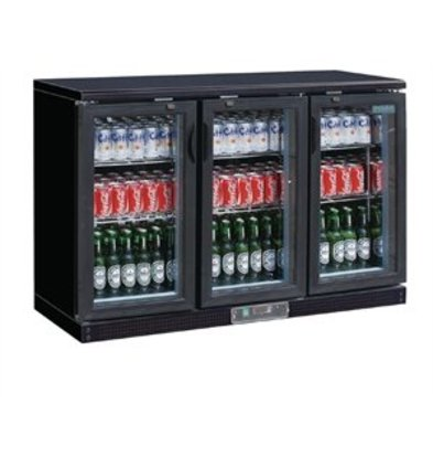 XXLselect Polar 3-türige Bar-Kühlvitrine 273 Flaschen