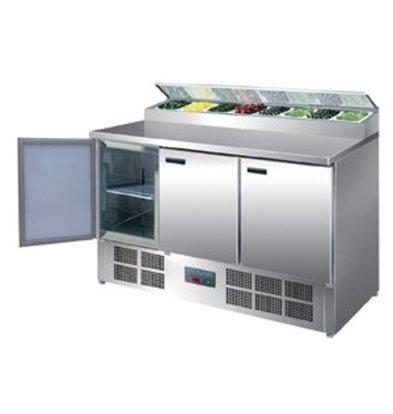 XXLselect Polar gekühlte Saladette und Pizzatisch 390 Liter