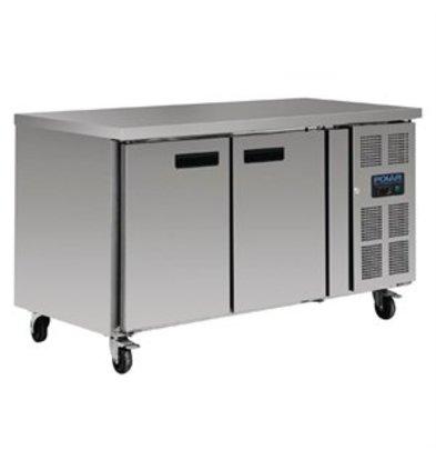 XXLselect Polar Kühltisch 228 Liter 2-türig