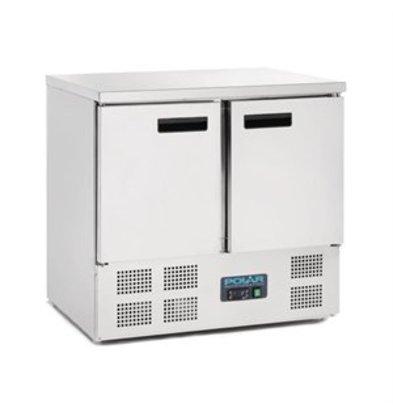 XXLselect Polar Kühltisch 2-türig 240 Liter