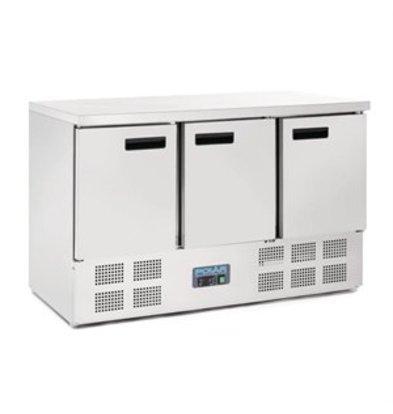 XXLselect Polar Kühltisch 3-türig 368 Liter
