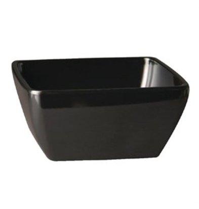 XXLselect Pure Melaminschüssel viereckig zwart 12,5x12,5cm