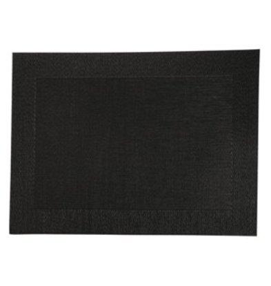 XXLselect PVC gewebtes Tischset schwarz